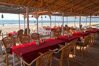 Cafe on the beach, Goa, India