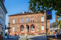 Das Rathaus in Gesenheim, Rheingau, Deutschland. 9. Juli 2017.