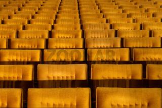 Concert hall, opera or theatre seats.