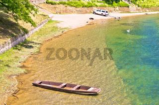 Korana river beach in Karlovac