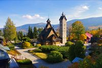 Karpacz Kirche Wang im Riesengebirge - Karpacz church Vang in Giant Mountains