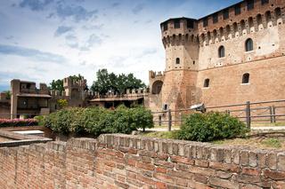 Teilansicht der Burg Gradara, Marken, Italien