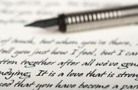 A pen on a love letter