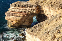 View of scenic natural bridge in Kalbarri National Park, Western Australia