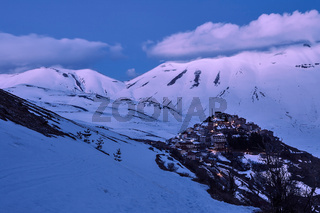 Castelluccio after the sunset