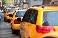 Wartende Taxis in New York