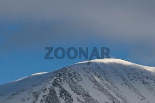 Wolkenstimmung, Akkamassiv, Stora Sjoefallet Nationalpark, Welterbe Laponia, Lappland, Schweden