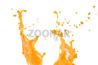 Orange water or juice wave abstract background