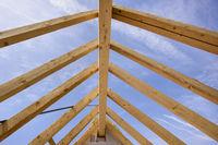Dachstuhl auf einem Neubau