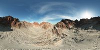 panorama of rocks in desert. made with the one vr 360 degree lense camera without any seams. ready for virtual reality