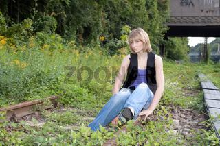 Foto-Shooting mit Juliane an der Alten Messe Leipzig