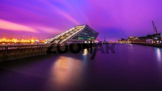 Dockland Hamburg bei Nacht