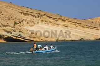 Bootsausflug im Golf von Oman bei Maskat