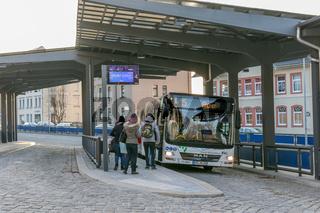 Busbahnhof in Annaberg-Buchholz