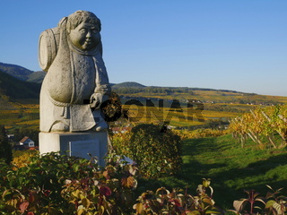 Weinberge des Weingutes Grand Cru Moenchberg in Andlau(Route des Vins d'Alsace),Frankreich