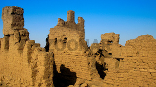 Ruined fortress at the Sai island, Nile, Sudan
