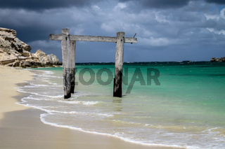 Stormy atmosphere at wonderful Hamlin Bay, Western Australia