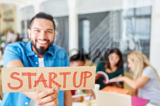 Start-Up Business Team bei Workshop