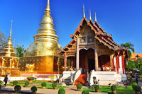 Wat Phra Singh, a Buddhist temple in Chiang Mai, Thailand