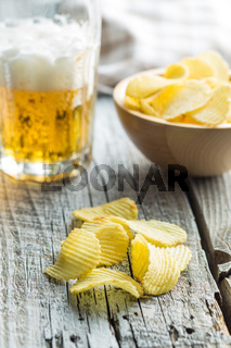 Crispy potato chips.