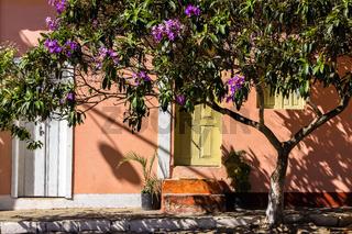 Idyllic scene in the small historic village Rio de Contas,Chapada Diamantina, Brazil