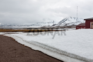 Mountain range in Ny Alesund, Svalbard islands