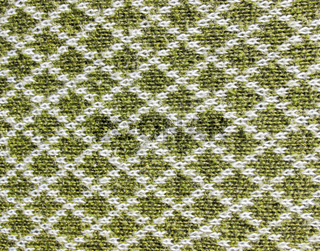 Green and white woolen woven clothing