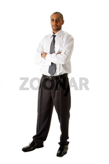 Handsome business man standing