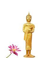 Goldener Buddha Statue Lotus
