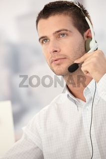 Portrait of handsome dispatcher