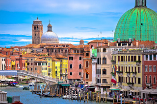 Colorful Canal Grande in Venice view