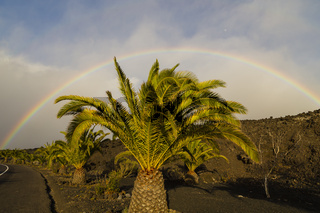 Regenbogen auf La Palma, Kanarische Inseln