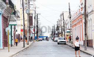 Cienfuegos, Kuba - Gebäude und Straßengassen