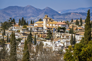 Albaycin Houses In The Old City Granada Andalucia Spain