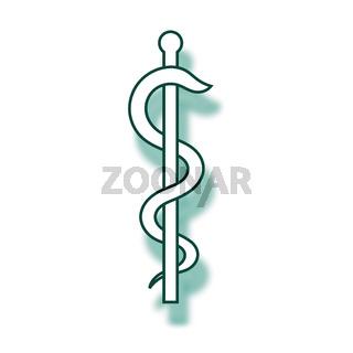äskulapstab zeichen kontur medizin