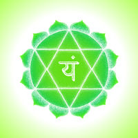 hand drawn chakra Anahata illustration