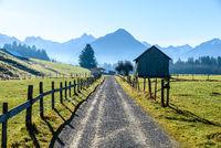 Trekking path between the Alpines