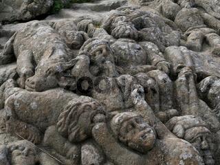 Granitskulpturen des Abbé Fouré,Rothéneuf,Saint-Malo,Bretagne,Frankreich