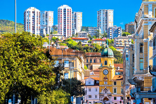 City of Rijeka architecture view