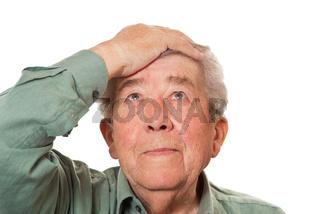 Vergesslicher Senior