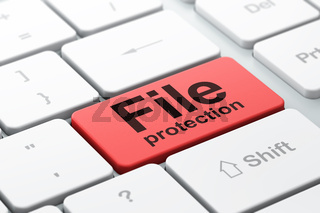 Security concept: File Protection on computer keyboard background