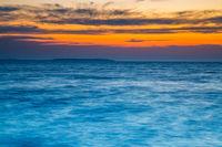Twilight sky on the sea