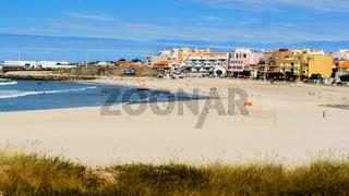 sea sand and village