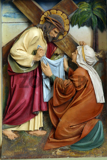 Veronica wipes the face of Jesus