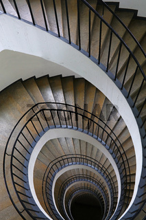 Spiral stairs perspective