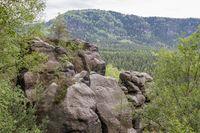 Blick vom Kuhstall-Felsen