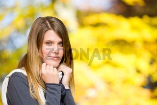 Autumn park - fashion model woman