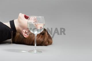 girl wine glass