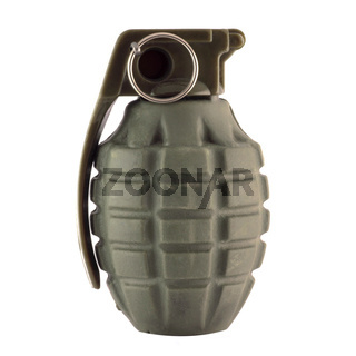 Hand grenade isolated in white