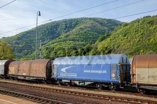 Güterzug in Horonec in der Slowakei